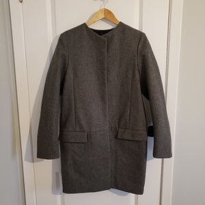 ACNE Grey Wool Coat
